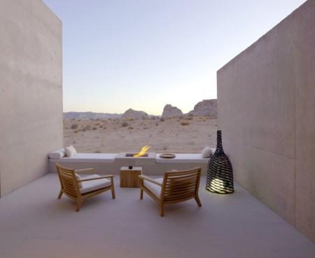 The Amangiri Resort and Spa spa de lujo en utah spa de lujo en usa interiores del mundo Interiores de hoteles estilo nórdico minimalista en el desierto americano estilo desierto lejano oeste decoración estilo am