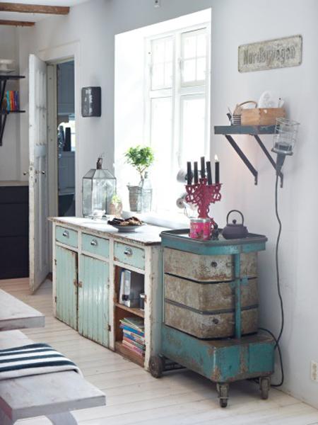 vintage decoraci?n sillas Tolix sillas eames muebles recicladas