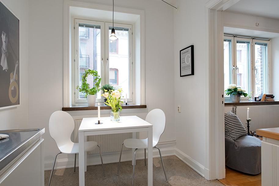 Mini piso de 40 m de estilo escandinavo blog decoraci n estilo n rdico delikatissen - Decoracion pisos pequenos ikea ...