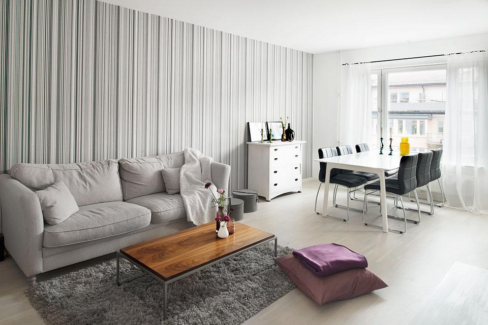 Papel de pared error o acierto blog decoraci n estilo - Salones decorados con papel pintado ...