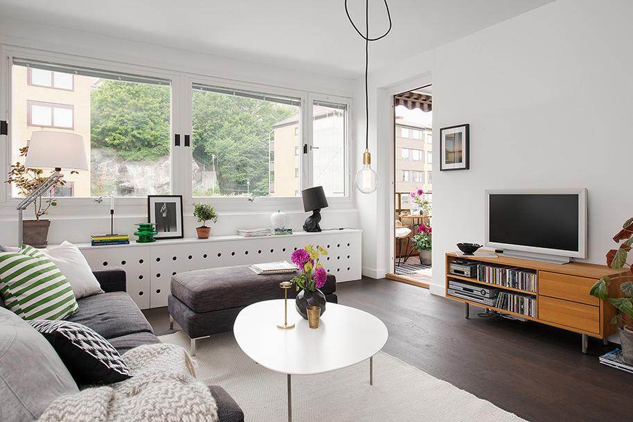 Un piso en el que cada cent metro cuadrado es til blog for Decoracion salon estilo nordico