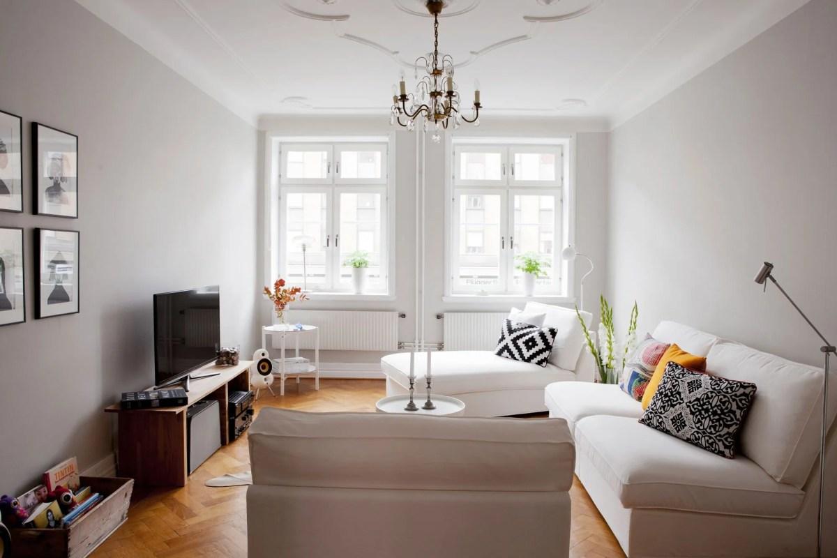 Paredes grises muebles blancos suelo de madera blog - Estilo nordico decoracion ...