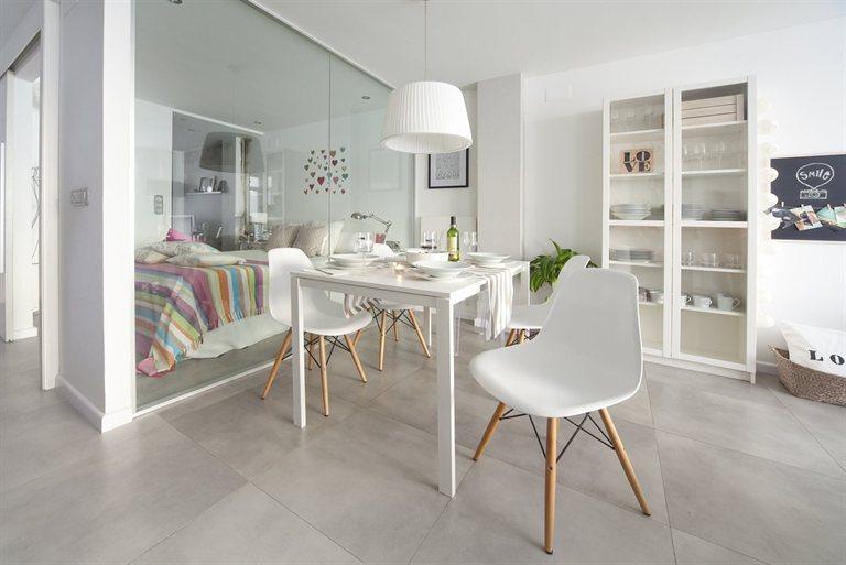 ... pisos espacios peque?os decoraci?n en blanco y gris cocina peque?a