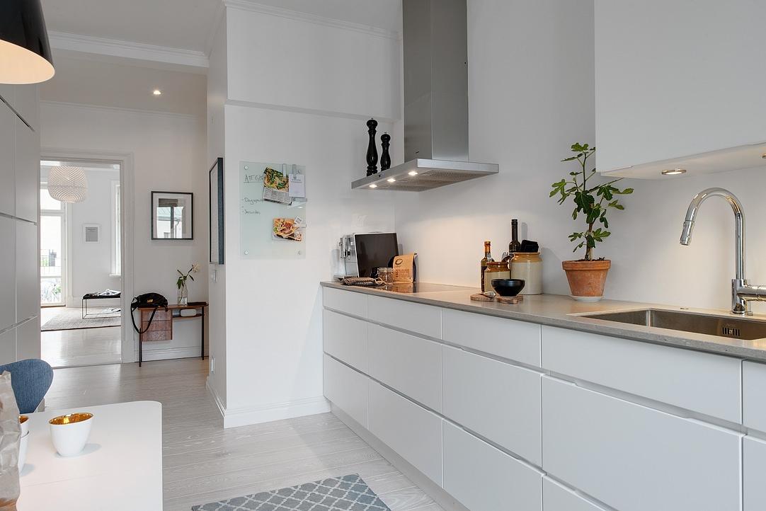 Gris y blanco siempre un acierto blog decoraci n estilo - Cocinas blancas y gris ...