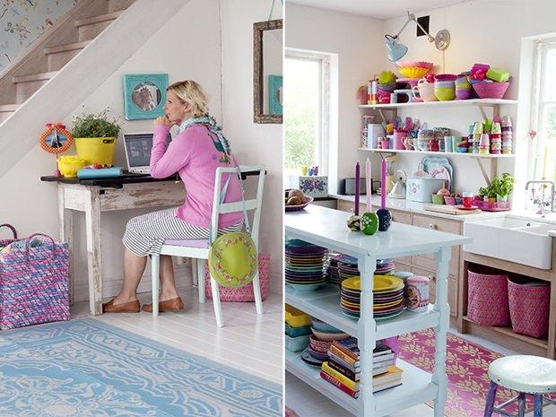 Estilo n rdico colorido y muy alegre blog decoraci n - Decoracion salones colores ...