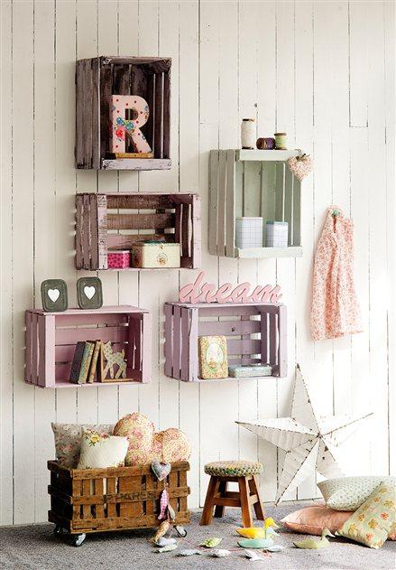 DIY - Organizar con cajas de fruta recicladas - Blog decoración estilo nórdic...