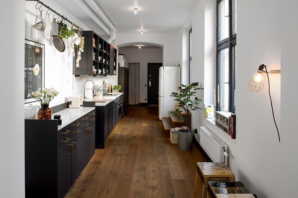 Cocina de forma rectangular blog decoraci n estilo - Cocinas rectangulares ...