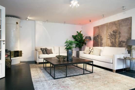 Vivir en una villa en el centro de una capital a lo grande decoración salones y comedores decoración nórdica escandinav