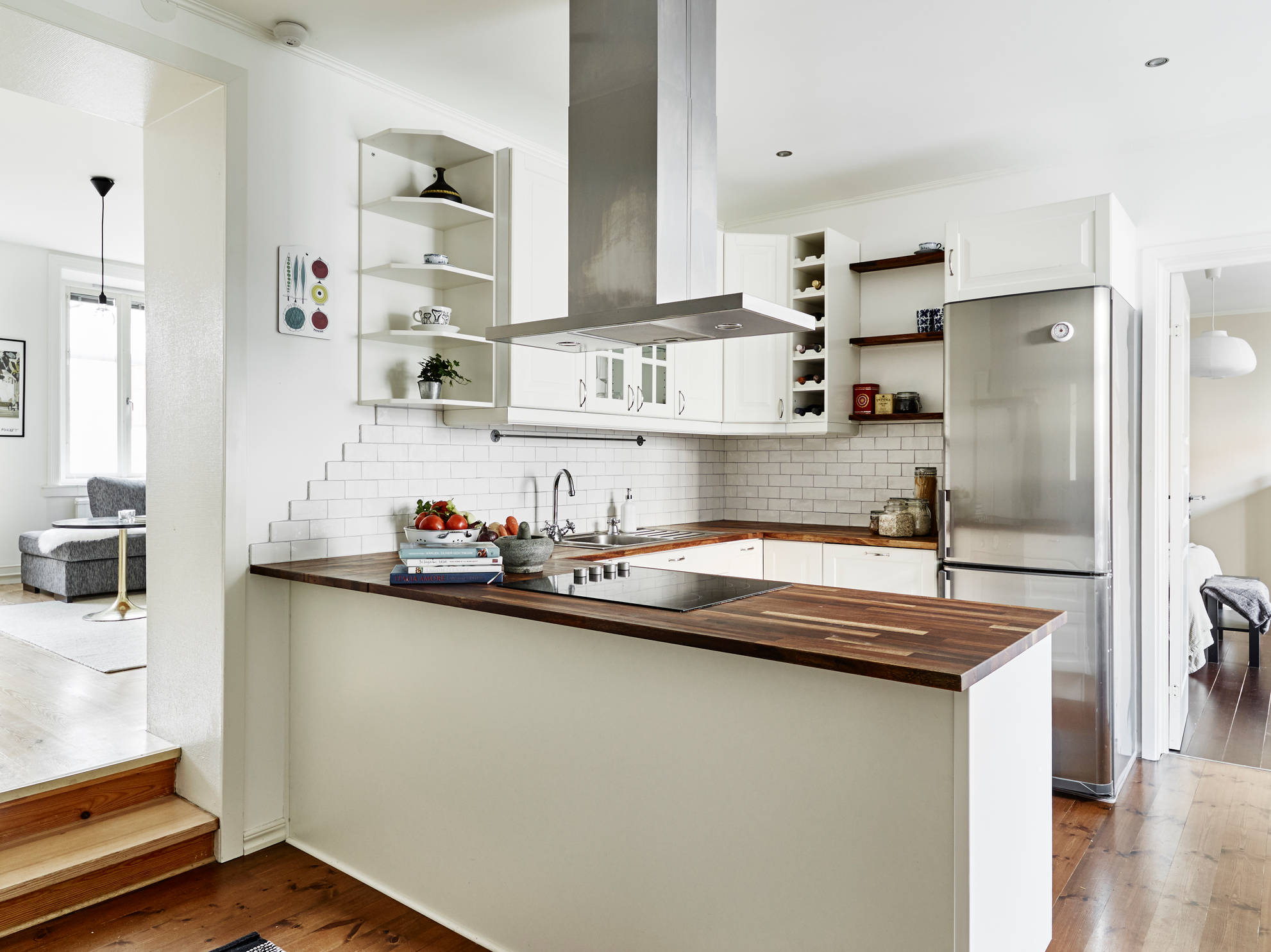 Pisos n rdicos peque os con gran amplitud blog for Cocina para departamento pequeno