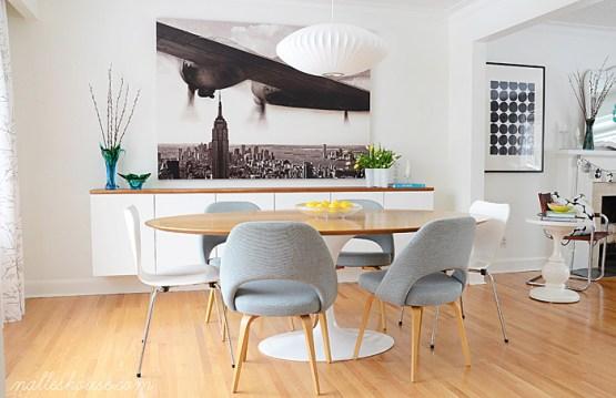 decoración moderna decoración de comedores comedores nórdicos comedores muebles ligeros comedores blancos comedores antes después blog decoracion interiores aparador volado aparador flotante