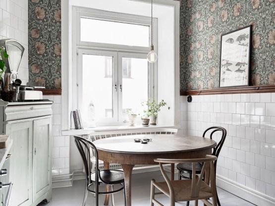 papel pared en la cocina diseño decoracion nordica cocinas cocinas profesionales cocinas nórdicas cocinas modernas cocinas ikea