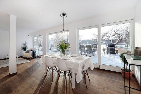 revestimiento oscuro cocina primer piso con terraza piso