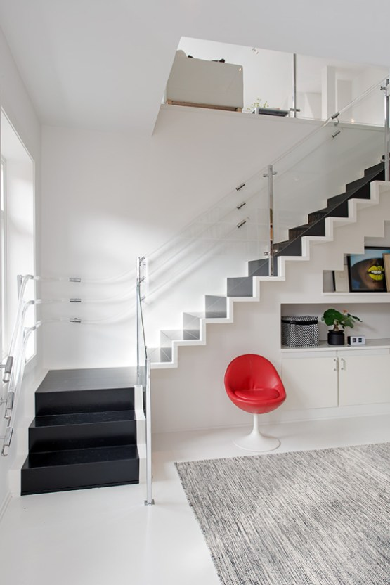 19 escaleras en pisos n rdicos blog decoraci n estilo for Escaleras en salas