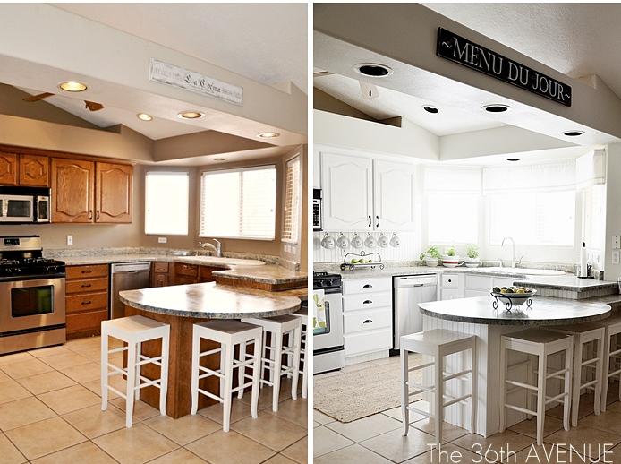 Chill decoraci n antes despu s una cocina de los 80 en - Pintar muebles de cocina antes y despues ...