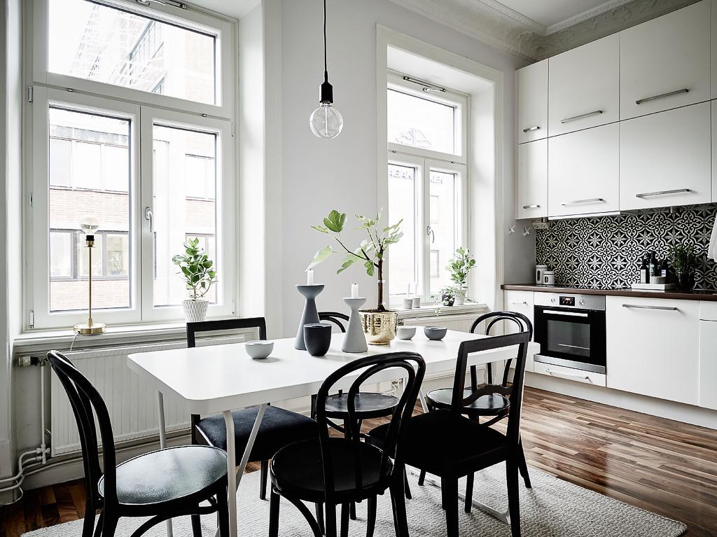Blanco y negro sobrio y elegante blog decoraci n estilo for Decoracion salon estilo nordico
