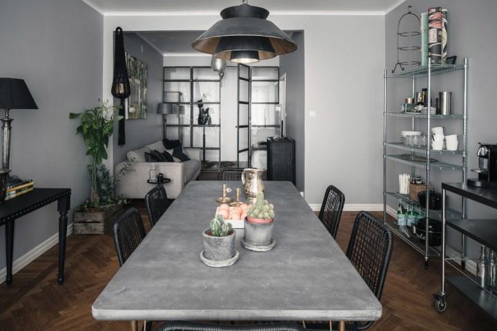 interiores pisos pequeños estilo nórdico moderno Estilo nórdico masculino en negro diseño interiores decoración moderna decoración masculina decoración interiores decoración en negro blog decoración nórdica