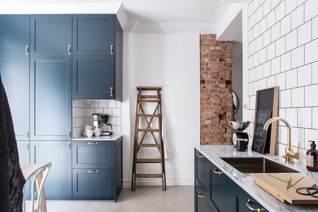 Revestimientos de cocina ladrillo visto cemento pulido for Cocinas hechas de cemento