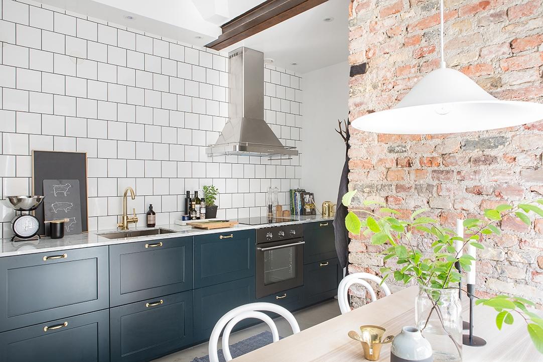 Revestimientos de cocina: ladrillo visto, cemento pulido, mármol ...
