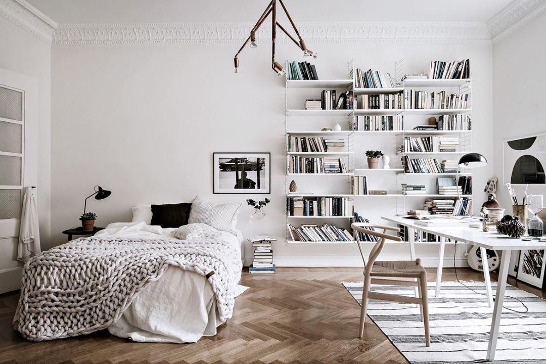 Dormitorio con zona de estudio muy natural blog - Blog decoracion dormitorios ...