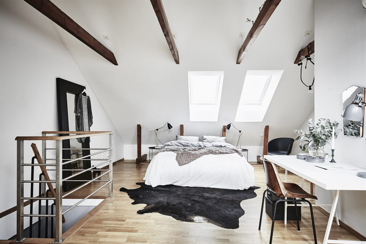 Dormitorio en el tico blog decoraci n estilo n rdico - Blog decoracion dormitorios ...