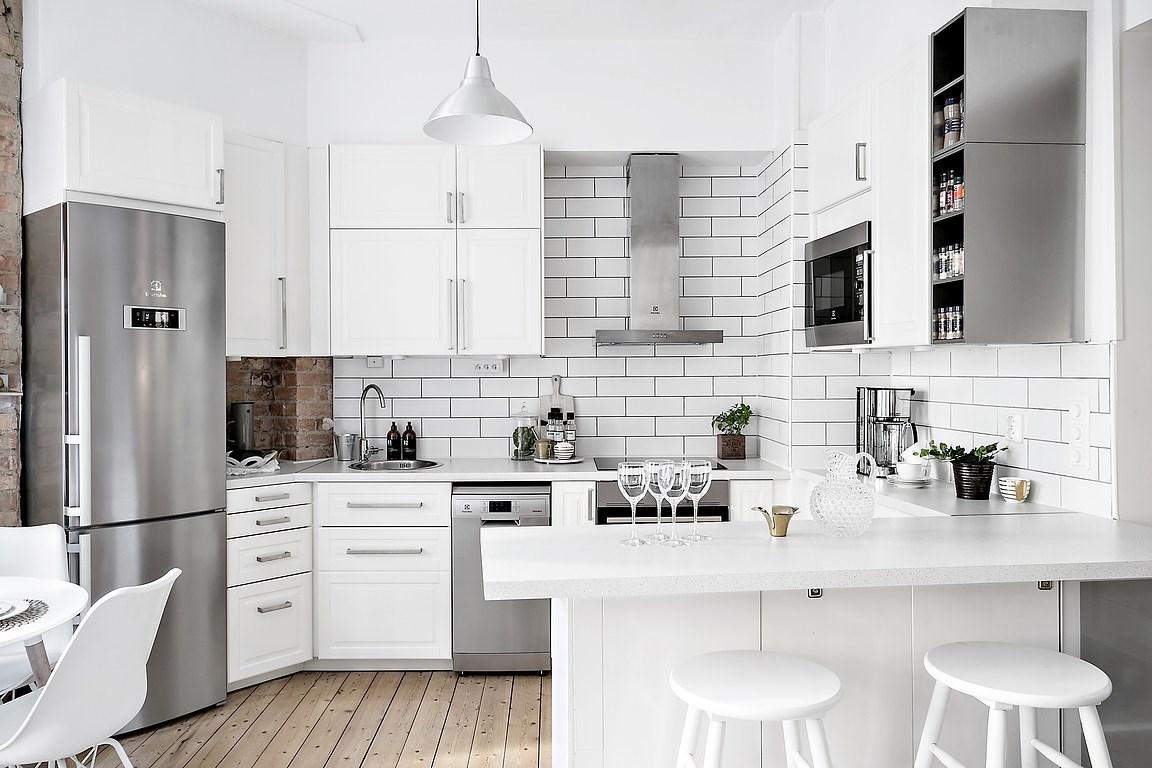 Cocina abierta en un piso pequeño | delikatissen | Bloglovin\'