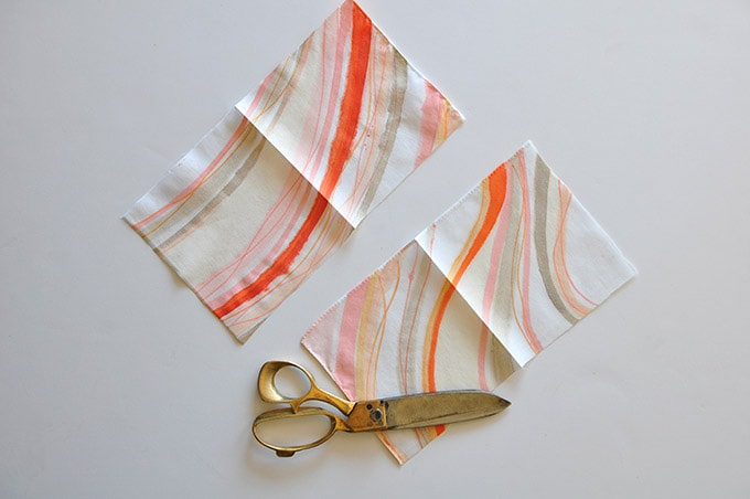Marbled Napkins cut