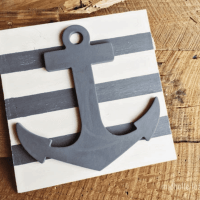 DIY Anchor Wood Art