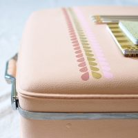 How to create Easy Painted Luggage