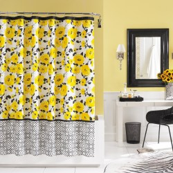 Small Of Yellow Shower Curtain