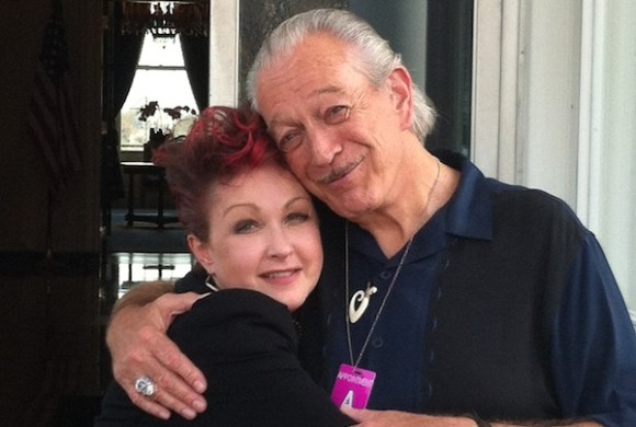 Charlie Musselwhite and Cyndi Lauper in the East Wing at the White House. Photo by CM