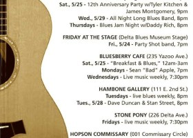 Sounds Around Town in Clarksdale Week of May 22 2013