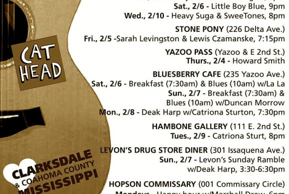 Sounds Around Town in Clarksdale week starting Thursday, February 4, 2016