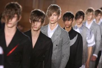 Britain London Mens Fashion Alexander McQueen