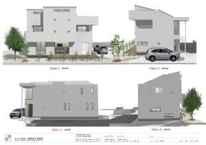二世帯住宅の間取り-立面