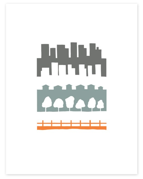 country to city print