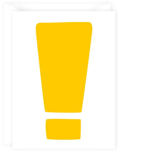 exclamation card yellow
