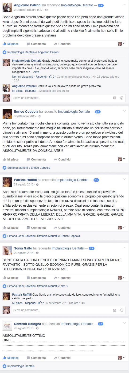 RECENSIONI OPINIONI PAZIENTI IMPLANTOLOGIA NETWORK