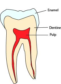 pain in cavity
