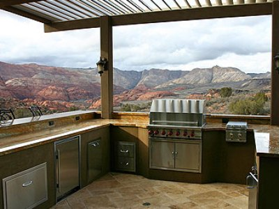 Denver Custom BBQ Islands and kitchen designs for less is J's specialty
