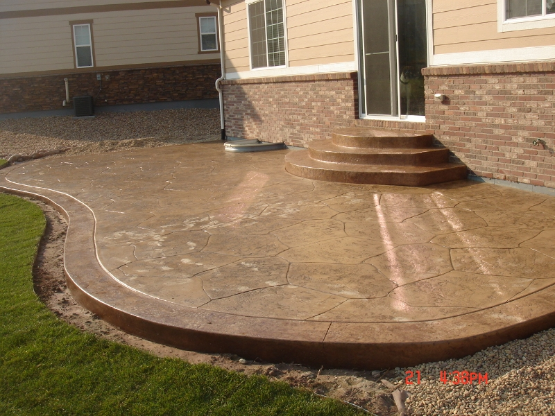 concrete patios denver custom decorative concrete patio contractor