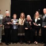 The 2016 INC Awardees: Mark Unger (Public Safety Award), Gayle Rodgers (Neighborhood Star), Shirley Schley (Neighborhood Star), Jennifer Engleby (Neighborhood Star), Diana Helper (INC Lifetime Achievement Award), Mara Owen (Neighborhood Star), Steve Nissen (INC Person of the Year Award)