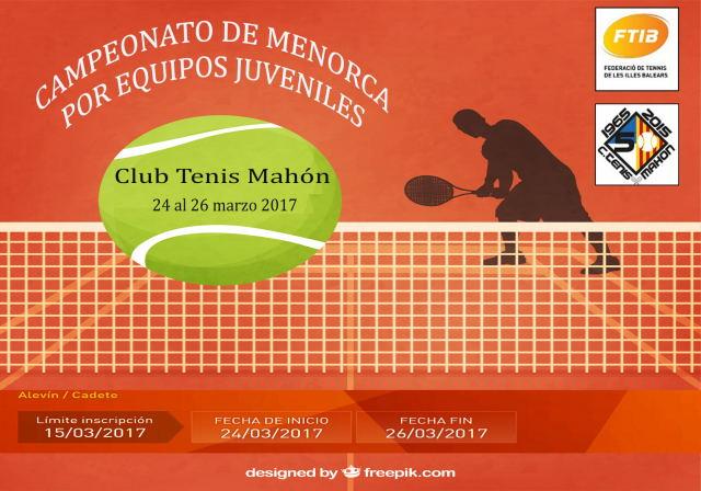 Cartel Campeonato Menorca por Equipos Juveniles