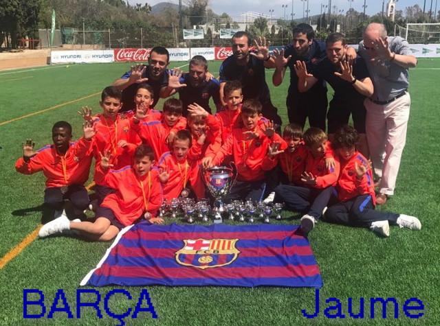 El Barça se ha proclamado campeón del torneo categoría Benjamín, venciendo al Rtvo. Victoria por 4 a 0