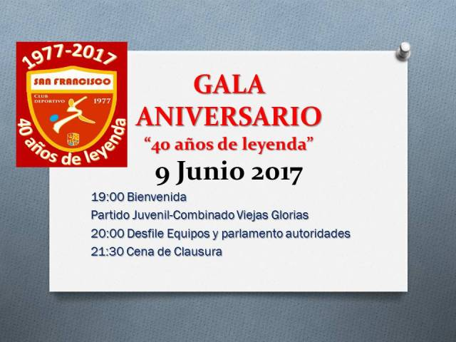 Gala Aniversario
