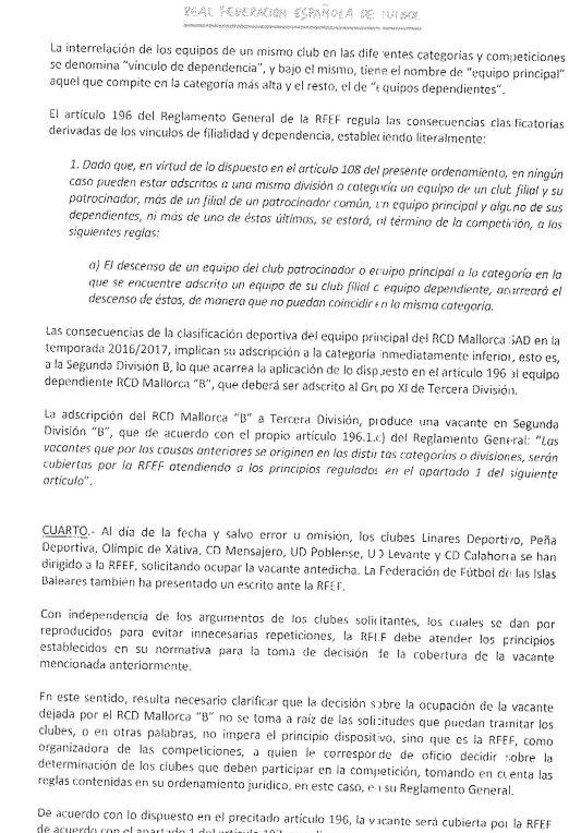 Resolución de la RFEF sobre el Ascenso de la Peña Deportiva a ...