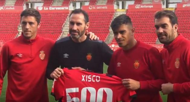 El capitán del RCD Mallorca, Xisco Campos