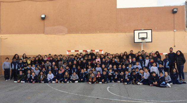 Diego Quintela y Paradynski visitaron el colegio Sant Francesc d'Assís