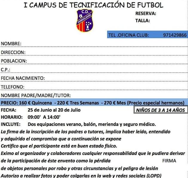 I Campus de tecnificacion de futbol. ferriolense