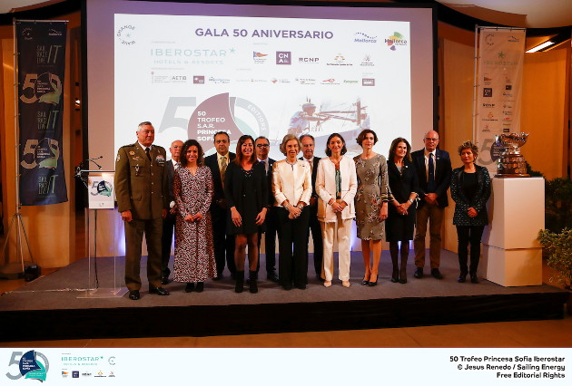 The Trofeo Princesa Sofia Iberostar celebrates this year its 50th anniversary in the elite of Olympic sailing in a record edition, to be held in Majorcan waters from 29th March to 6th April, organised by Club Nàutic S'Arenal, Club Marítimo San Antonio de la Playa, Real Club Náutico de Palma and the Balearic and Spanish federations. ©Jesus Renedo/SAILING ENERGY/50th Trofeo Princesa Sofia Iberostar 30 March, 2019.