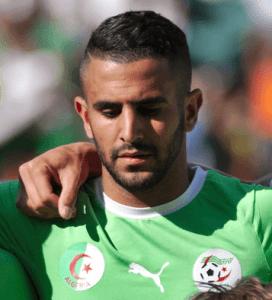 Jugador del Leicester City Riyad Mahrez Premier League